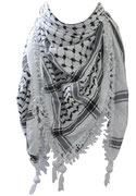 Traditional White and Black Keffiyeh