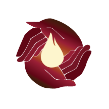 JeLiThIn Logo: two hands surrounding a flame